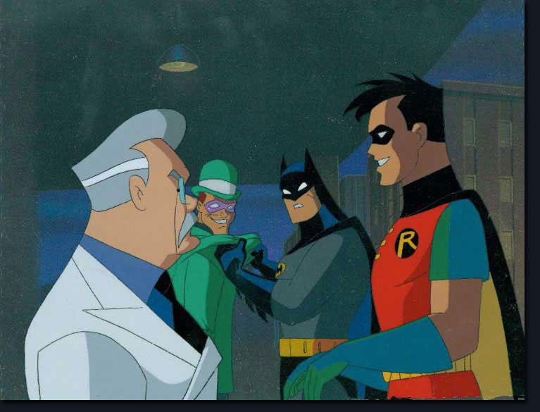 Batman Robin and Riddler Batman And Robin Cartoon Q Dope Coating